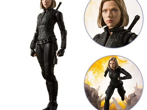 Avengers: Infinity War Black Widow and Tamashii Effect Explosion SH Figuarts Action Figure – Free Shipping