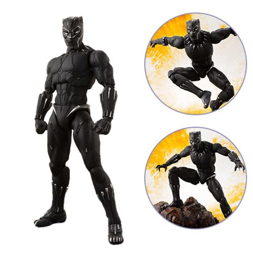 Avengers: Infinity War Black Panther and Tamashii Effect Rock SH Figuarts Action Figure – Free Shipping