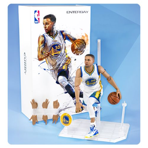 NBA Collection Stephen Curry Motion Masterpiece 1:9 Scale Action Figure – Free Shipping