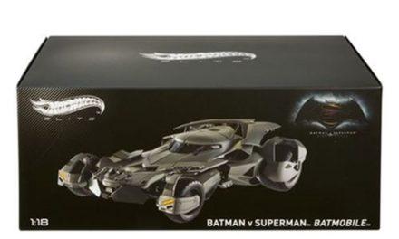 Batman v Superman Batmobile 1:18 Scale Hot Wheels Elite Die-Cast Metal Vehicle – Free Shipping