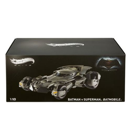 Batman v Superman Batmobile 1:18 Scale Hot Wheels Elite Die-Cast Metal Vehicle – Free Shipping