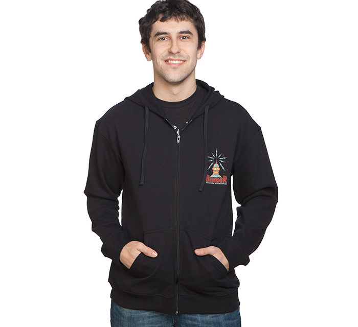 Futurama Bender Zip-Up Hoodie
