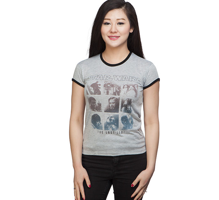 Star Wars The Last Jedi Ombre Ladies' T-Shirt