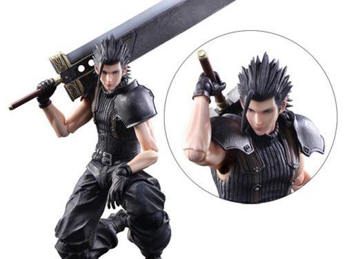 Final Fantasy VII Crisis Core Zack Fair Play Arts Kai Action Figure – Free Shipping