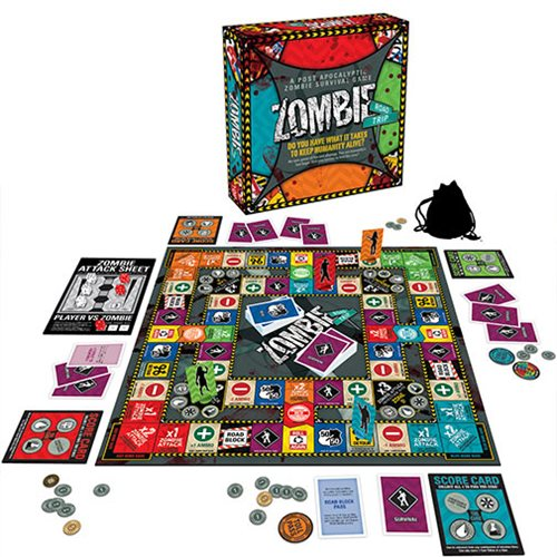 Zombie Road Trip Board Game