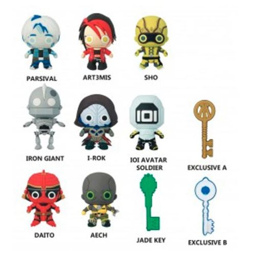 Ready Player One 3-D Figural Key Chain Random 6-Pack