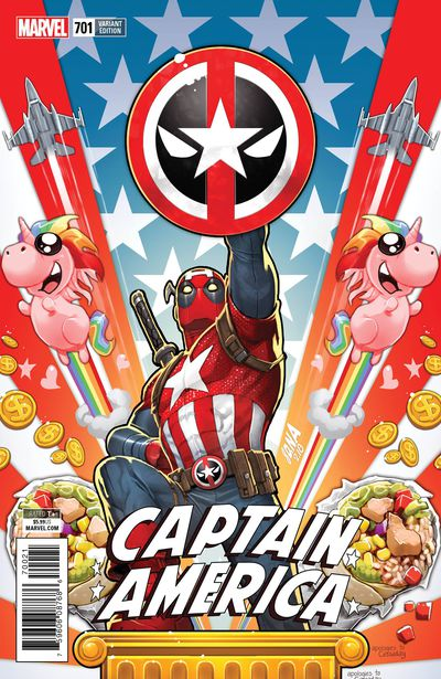 Captain America #701 (Nakayama Deadpool Variant)