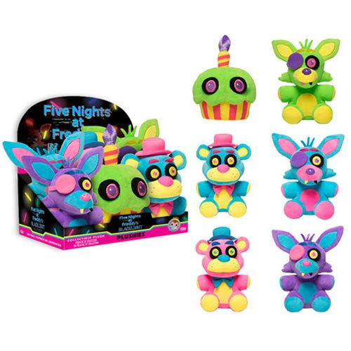 Five Nights at Freddy's Blacklight Plush Display Case