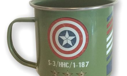 Marvel Captain America Vintage Military Army Enamel 12 oz. Mug