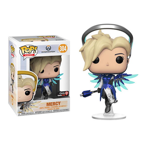 Funko POP! Overwatch Cobalt Mercy Vinyl Figure – Exclusive