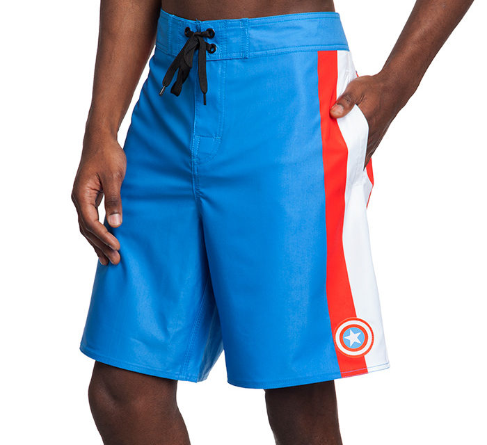 Captain America Board Shorts