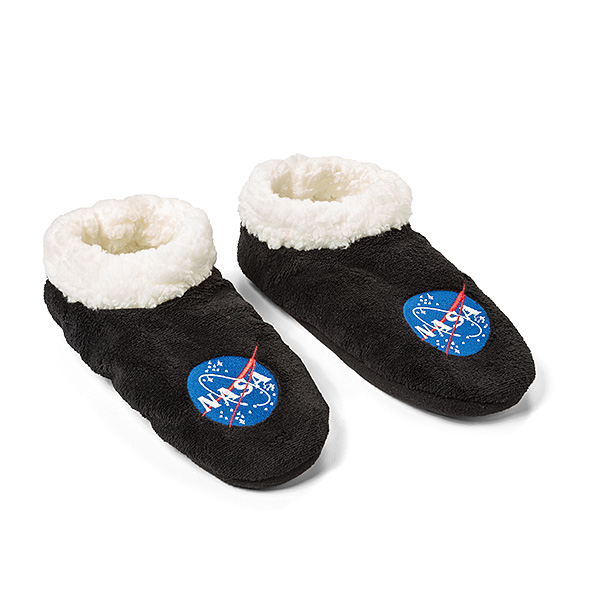 NASA Microfleece Slipper Socks