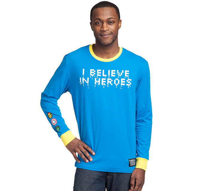 Marvel I Believe In Heroes Long Sleeve T-Shirt