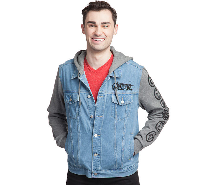 Avengers Hooded Denim Jacket