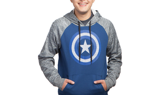 Captain America Textured Pullover Hoodie