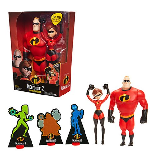 Incredibles 2 Mr. Incredible and Elastigirl 12-Inch Action Figure Set