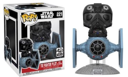 Star Wars TIE Fighter Vinyl Vehicle with TIE Pilot Deluxe Pop! Vinyl Bobble Head #221