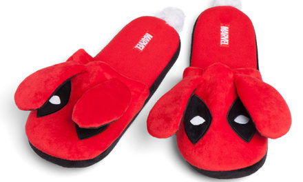 Deadpool Fuzzy Bunny Slippers