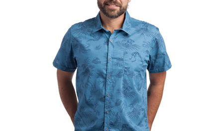 Jurassic Park Fossil Print Button-Down Shirt