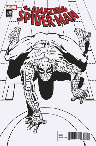 Amazing Spider-Man #800 (Ditko Remastered B&W Variant)