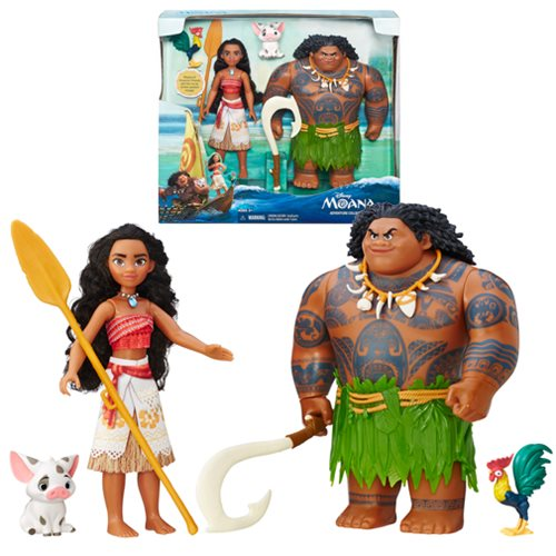 Moana Adventure Collection Doll and Figures Set