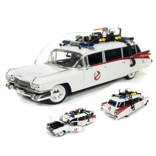 Ghostbuster 1959 Cadillac Ecto-1 1:18 Scale Die-Cast Metal Vehicle – Free Shipping