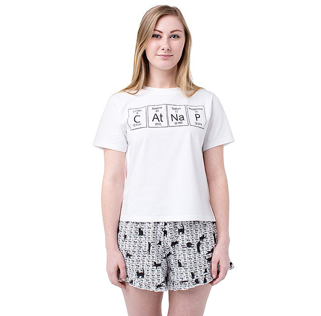 Periodic CAtNaP Pajama Shirt and Short Set