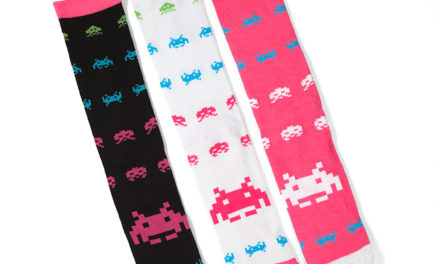 Space Invaders Crew Socks 3pk