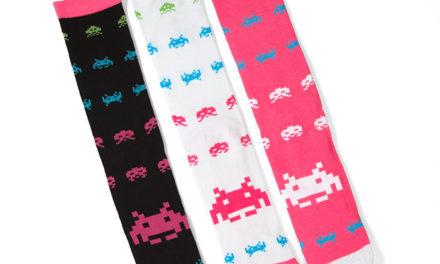 Space Invaders Crew Socks 3pk