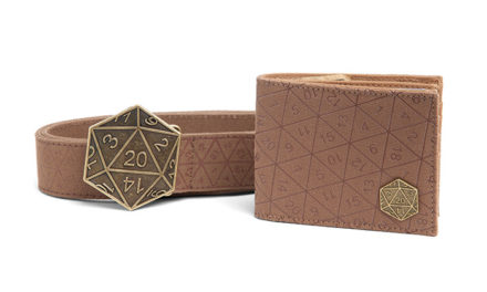 Crit Success D20 Belt and Wallet Gift Set