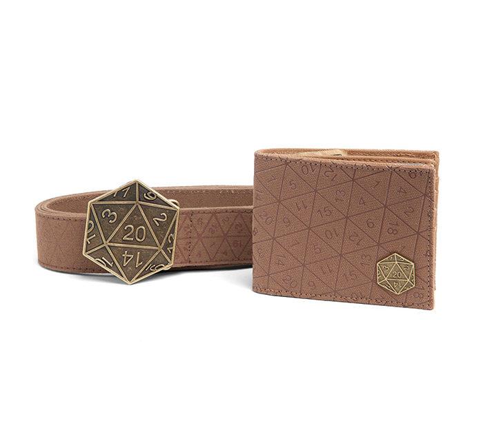 Crit Success D20 Belt and Wallet Gift Set