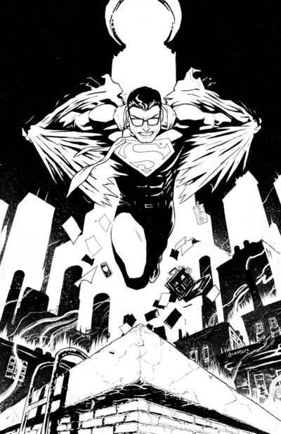 Action Comics #1001 (Inks Only Variant Cover)