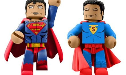 It's Superman's 80th birthday, and in the wake of his landmark 1000th issue, Diamond Select Toys is offering this commemorative 2-pack of DC Vinimates vinyl figures! Based on his first appearance and modern-day look, these two 4-inch tall vinyl figures are sculpted in the block-figure style and strike trademark Superman poses. Limited to only 1,500 pieces, this DC Comics 80th Anniversary Superman Vinimate 2-Pack – SDCC 2018 Previews Exclusive comes packaged in a full-color window box. NOTE: This item will first be sold at San Diego Comic-Con 2018 at the Entertainment Earth booth #2343. If supplies remain after the show, your order will be filled and shipped to you then, in August 2018.