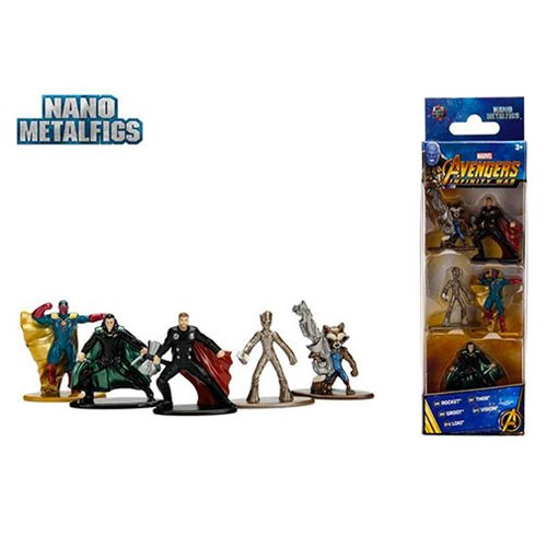 Avengers: Infinity War Nano Metalfigs Die-Cast Metal Mini-Figures Wave 2 5-Pack