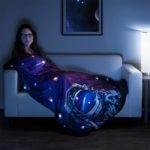 LED Space Fleece Blanket
