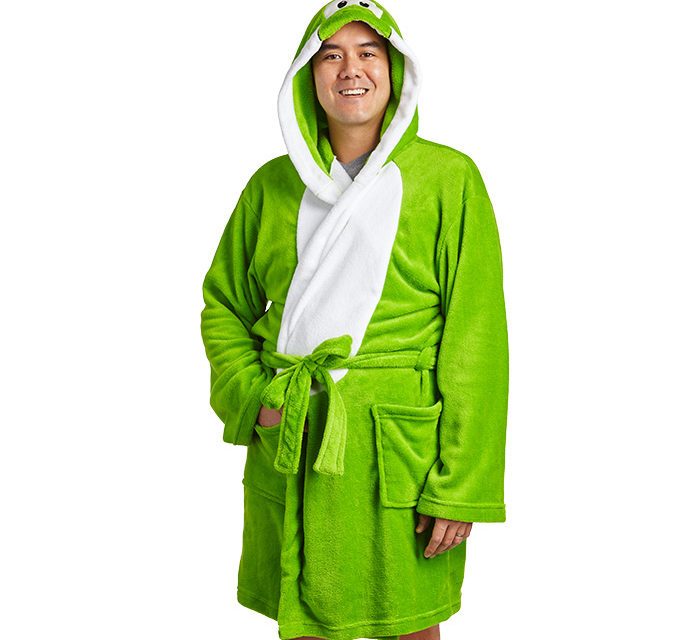 Super Mario Yoshi Hooded Robe