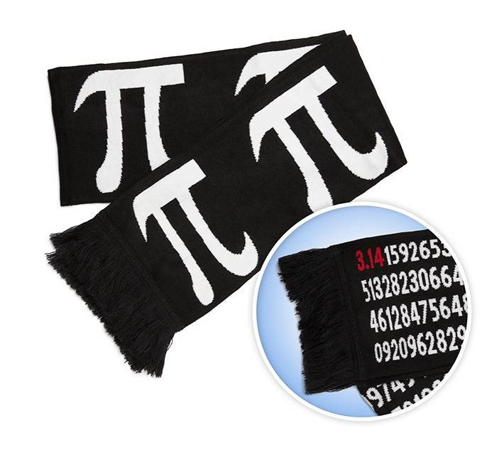 Pi By Numbers Knit Scarf