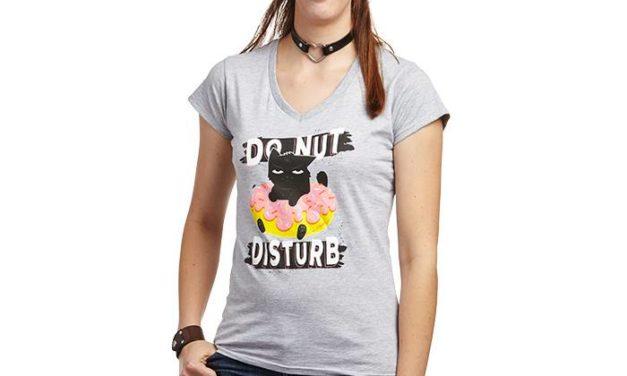 Cat & Donut Ladies' T-Shirt