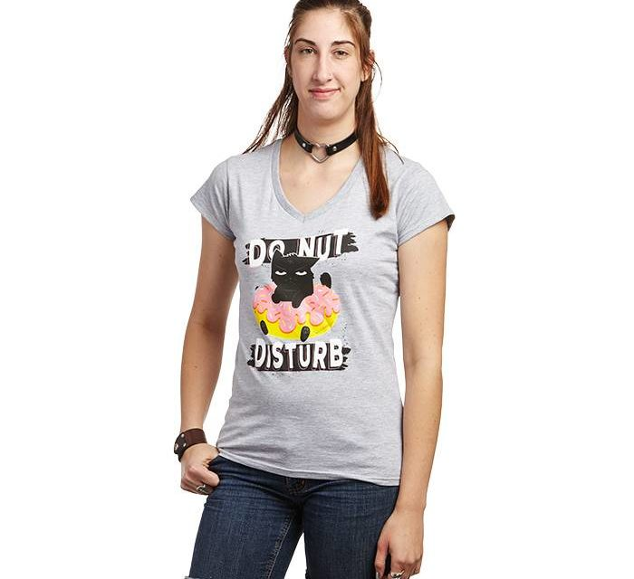 Cat & Donut Ladies' T-Shirt