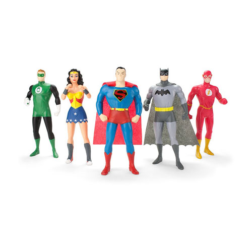 Justice League: The New Frontier 5-Piece Bendable Figure Box Set