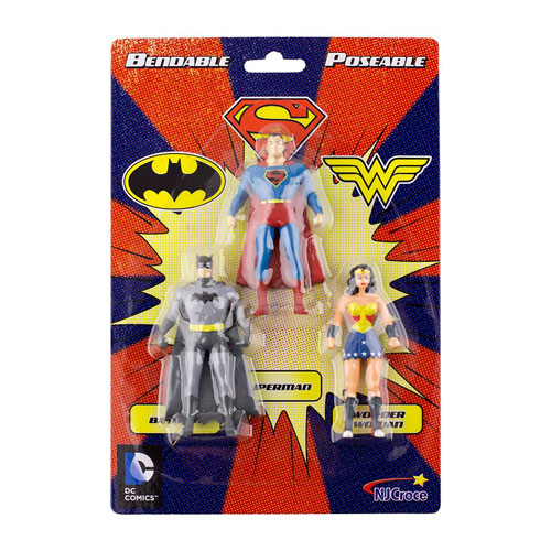 Justice League Trinity Bendable Mini-Figure 3-Pack