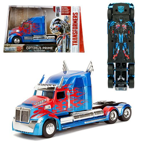 Transformers The Last Knight Optimus Prime 1:24 Scale Die-Cast Metal Vehicle