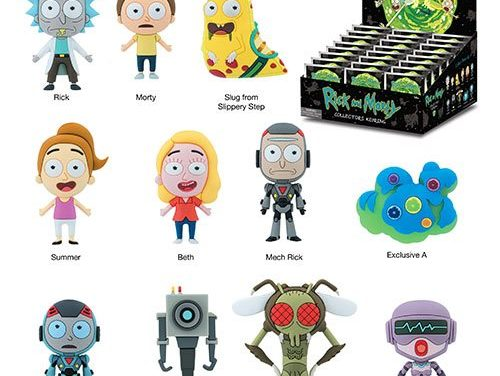 Rick and Morty 3D Figural Key Chain Display Case – Free Shipping