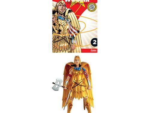DC Wonder Woman Mythologies Golden Eagle Armor Statue with Collector Magazine #2