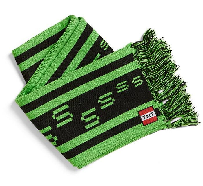 Minecraft Creeper TNT Scarf
