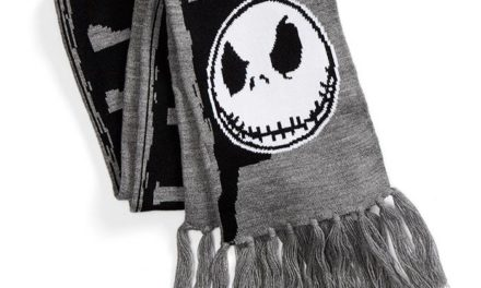 Nightmare Before Christmas Graveyard Knit Scarf