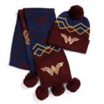 Wonder Woman Knit Pom Pom Beanie and Scarf Set