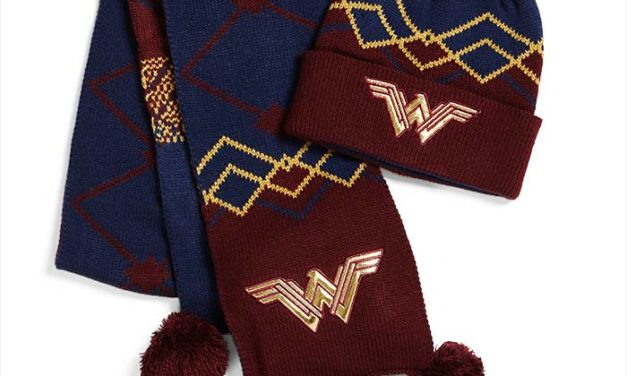 Wonder Woman Knit Pom Pom Beanie and Scarf Set