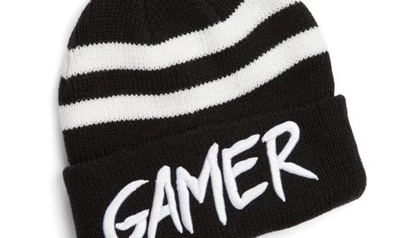 Gamer Striped Cuff Beanie