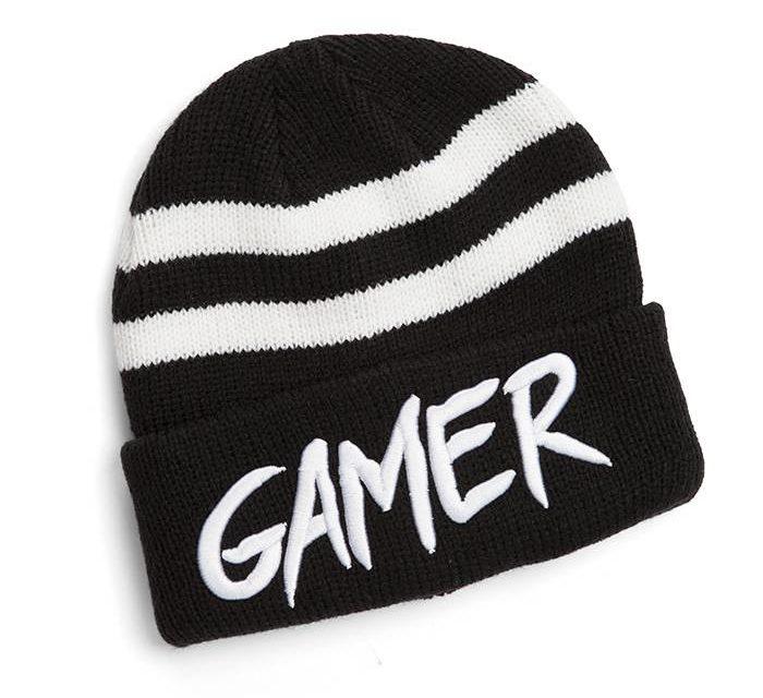 Gamer Striped Cuff Beanie